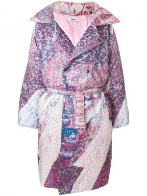 Пальто свободного кроя Marios. Цвет: розовый и фиолетовый
