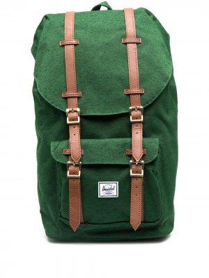 Рюкзак с ремешками на пряжках Herschel Supply Co.. Цвет: зеленый