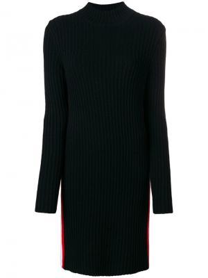 Платье поло с полосками сбоку Calvin Klein 205W39nyc. Цвет: черный