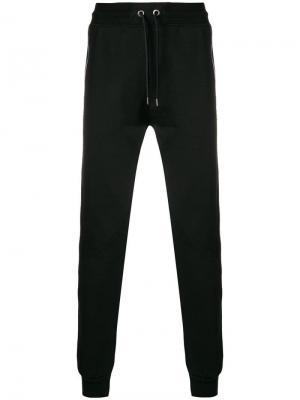 Спортивные брюки со шнурком Le Coq Sportif. Цвет: черный