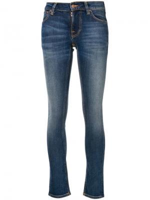 Джинсы скинни Nudie Jeans Co. Цвет: синий