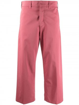 Укороченные брюки Department 5. Цвет: розовый