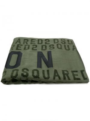 Пляжное полотенце Icon Dsquared2. Цвет: зеленый