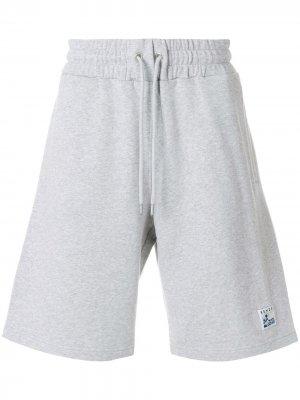 Спортивные шорты с заплаткой волнами Kenzo. Цвет: серый