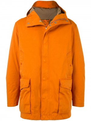 Парка с капюшоном Ten C. Цвет: оранжевый