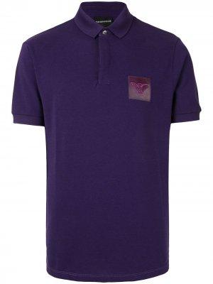 Рубашка поло с нашивкой-логотипом Emporio Armani. Цвет: фиолетовый