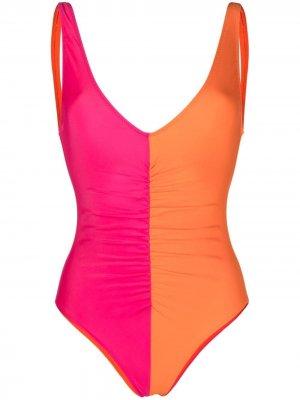 Купальник Lucia в стиле колор-блок Solid & Striped. Цвет: оранжевый