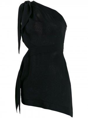 Блузка асимметричного кроя на одно плечо Emilio Pucci. Цвет: черный