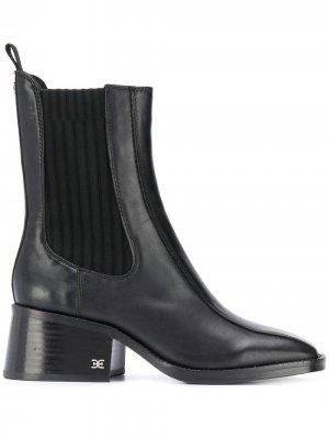 Ботильоны с квадратным носком Sam Edelman. Цвет: черный