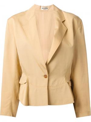 Пиджак на затяжке Alaïa Vintage. Цвет: нейтральные цвета