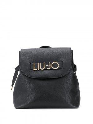Рюкзак с логотипом LIU JO. Цвет: черный