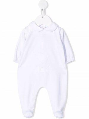 Пижама с вышивкой Little Bear. Цвет: белый