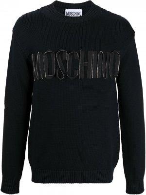 Джемпер с логотипом Moschino. Цвет: черный