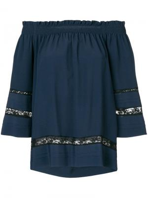 Блузка Angelica в стиле casual P.A.R.O.S.H.. Цвет: синий
