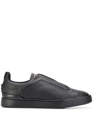 Декорированные кроссовки Ermenegildo Zegna. Цвет: черный