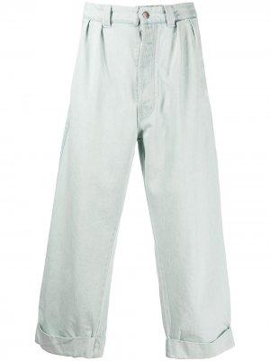 Расклешенные брюки с завышенной талией Société Anonyme. Цвет: синий