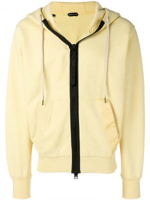 Куртка с контрастной молнией Tom Ford. Цвет: желтый