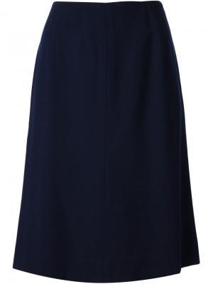 Прямая юбка Krizia Pre-Owned. Цвет: синий
