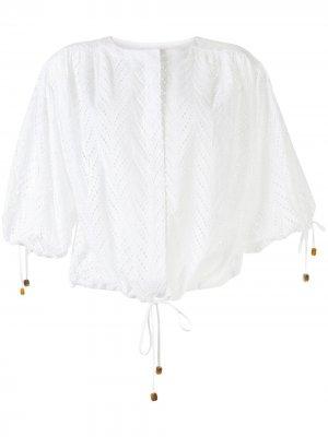 Блузка Breeze Rodebjer. Цвет: белый