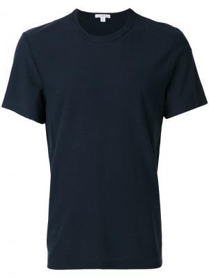 Классическая рубашка с короткими рукавами James Perse. Цвет: синий