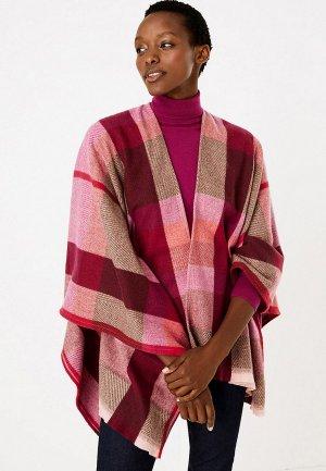 Пончо Marks & Spencer. Цвет: розовый