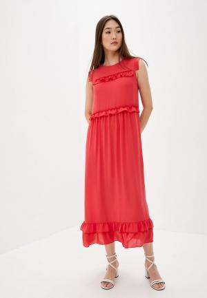 Платье Blugirl Folies. Цвет: коралловый