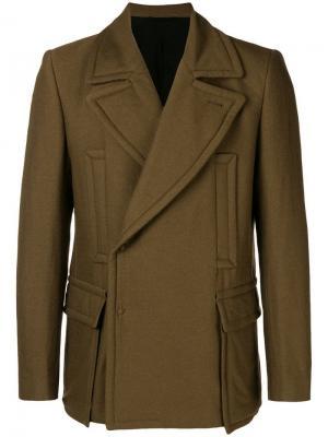 Куртка в стиле милитари Ann Demeulemeester. Цвет: коричневый