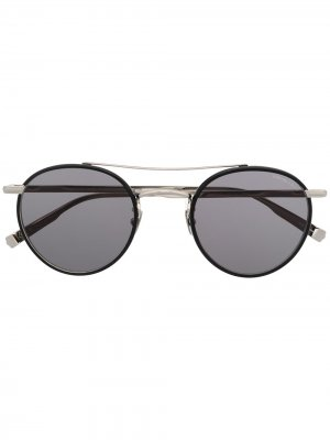 Солнцезащитные очки в круглой оправе Garrett Leight. Цвет: черный