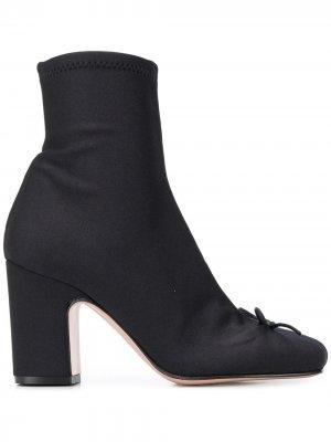 Ботильоны-носки на каблуке RED Valentino. Цвет: черный