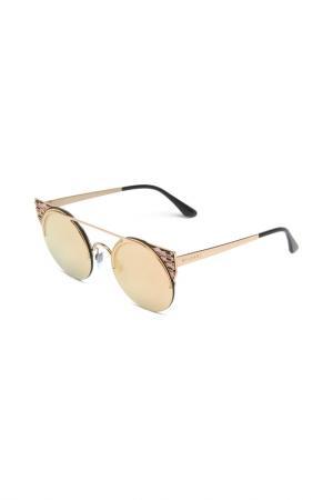 Очки солнцезащитные Bvlgari. Цвет: золотой