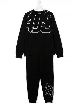 Спортивный костюм с логотипом Cesare Paciotti 4Us Kids. Цвет: черный