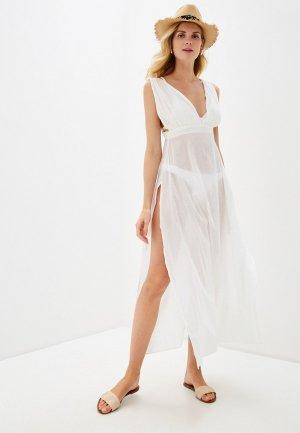 Платье пляжное Brave Soul. Цвет: белый