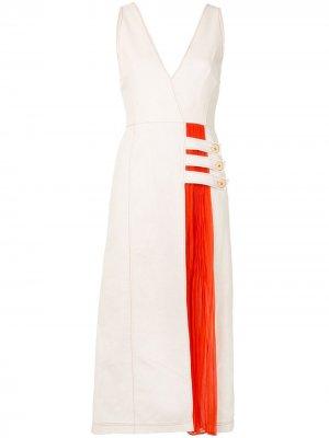 Платье Ilan с контрастными вставками и складками Alexis. Цвет: нейтральные цвета
