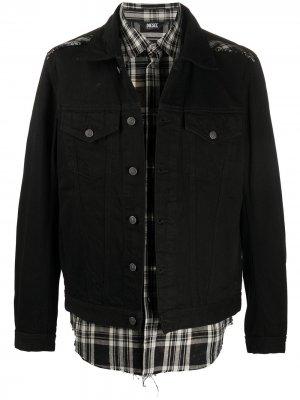 Джинсовая куртка Diesel. Цвет: черный