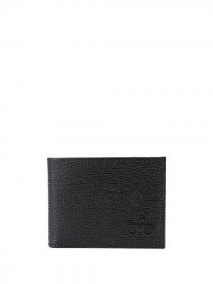 Бумажник с декором Gancio Salvatore Ferragamo. Цвет: черный