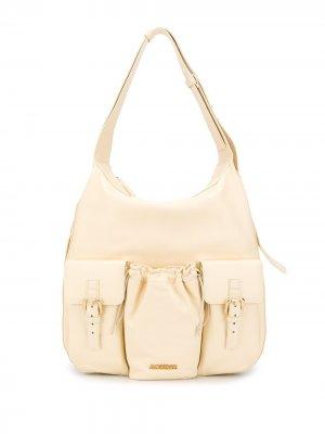 Объемная сумка на плечо Jacquemus. Цвет: нейтральные цвета