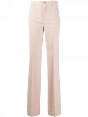Расклешенные брюки с завышенной талией RED Valentino. Цвет: розовый