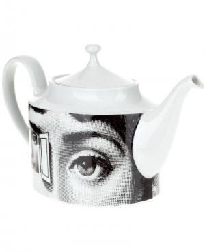 Чайник с принтом Fornasetti. Цвет: белый