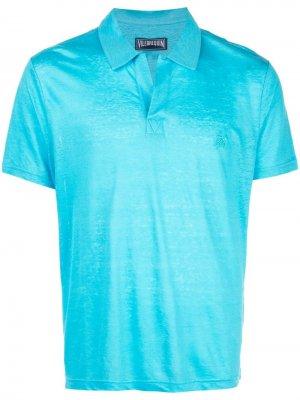 Рубашка-поло с открытым воротником Vilebrequin. Цвет: синий