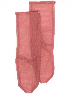 Сетчатые носки Simone Wild. Цвет: красный