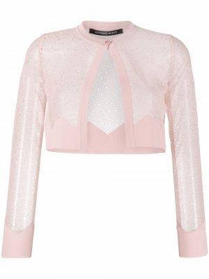 Укороченные брюки широкого кроя Antonino Valenti. Цвет: розовый