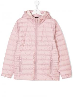 Пуховая куртка на молнии Ciesse Piumini Junior. Цвет: розовый