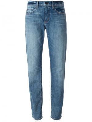 Выбеленные джинсы-бойфренды Helmut Lang. Цвет: синий