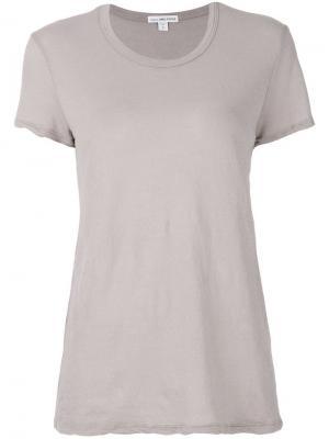 Классическая футболка James Perse. Цвет: нейтральные цвета