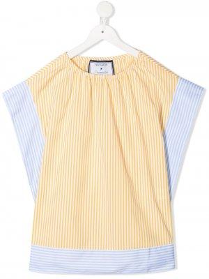 Платье в полоску Simonetta. Цвет: желтый