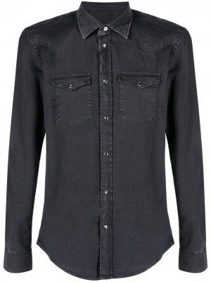 Джинсовая рубашка с длинными рукавами Dondup. Цвет: черный