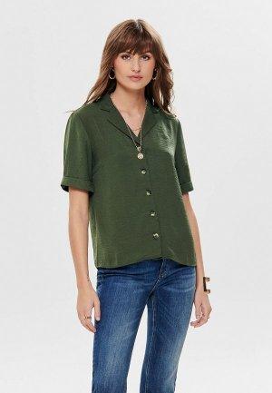 Блуза Only. Цвет: зеленый