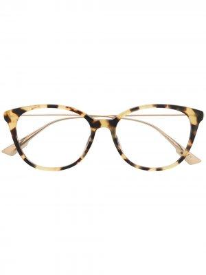 Очки Sight 01 в круглой оправе Dior Eyewear. Цвет: нейтральные цвета