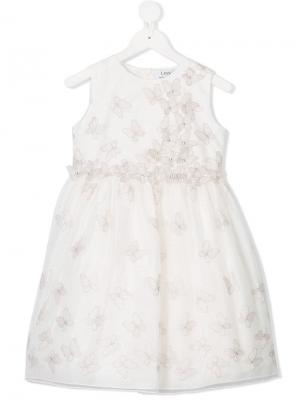 Декорированное платье Lesy. Цвет: белый