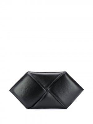 Клатч на молнии с плетением Intrecciato Bottega Veneta. Цвет: черный
